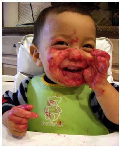 Jack the beet-faced baby