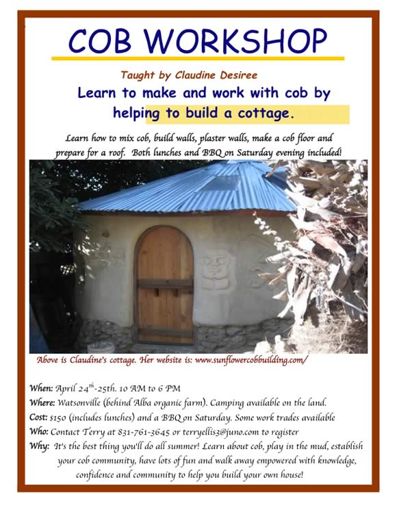 Cob Workshop Flyer