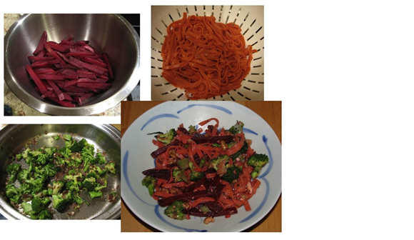 Cristie Boone's version of Debbie's Broccoli, Beet and Feta Pasta recipe
