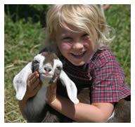 Elisa and baby goat