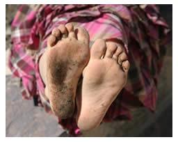 Elisa's barefoot 'feelers'