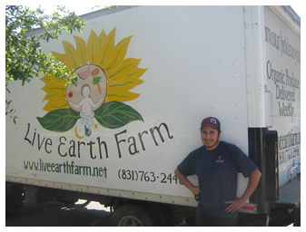 the LEF delivery truck with Luis