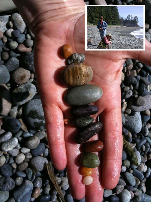 Beautiful colored stones from Mabens Beach