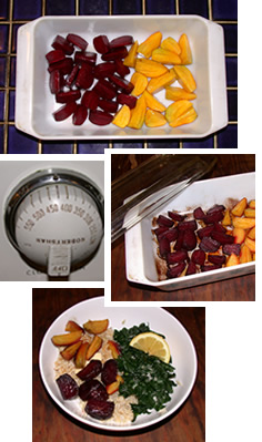 Debbie's roasted red and golden beets