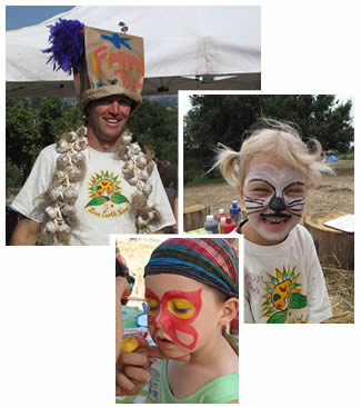 Solstice face painting and fun