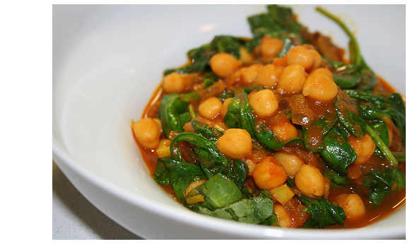 Evil Jungle Prince's photo of chickpea curry with fresh spinach
