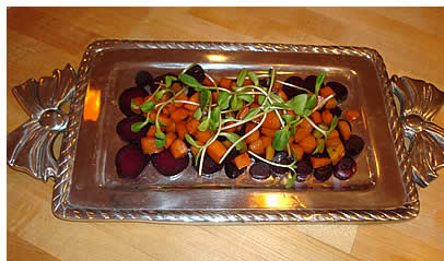 Cheryl's photo of her beet and carrot dish.