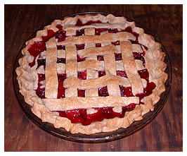 Debbie's lattice-crust raspberry, strawberry and blackberry pie