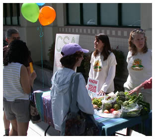 Earth Day table in Lincoln Ave in Willow Glen
